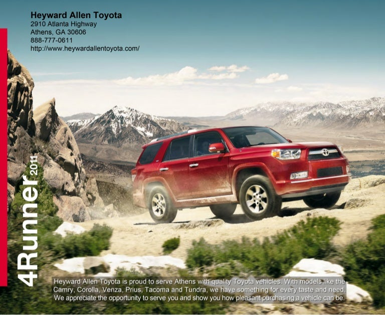 2011 heyward allen toyota 4 runner athens ga. Black Bedroom Furniture Sets. Home Design Ideas