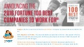 2016 Fortune 100 Best Companies to Work For