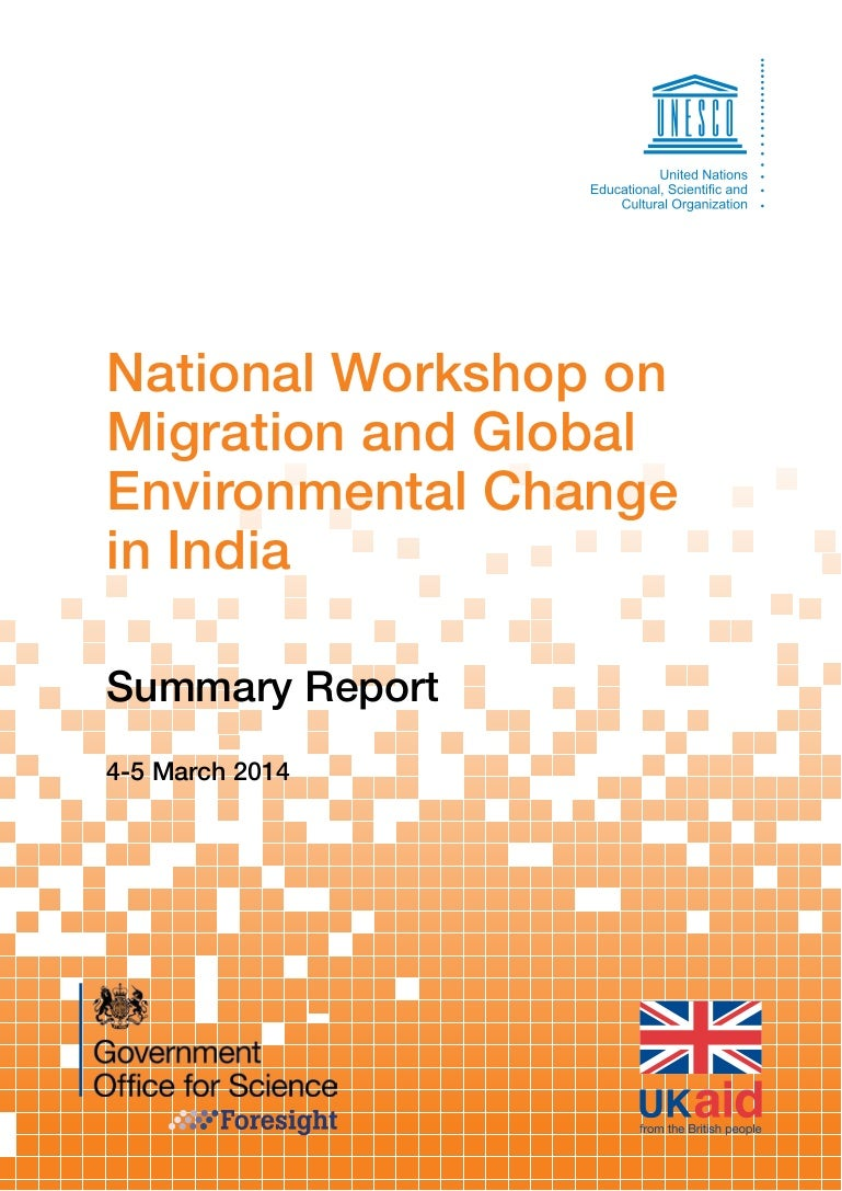 National Workshop on Migration and Global Environmental Change in India