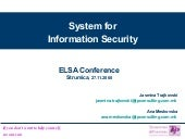 4 System For Information Security