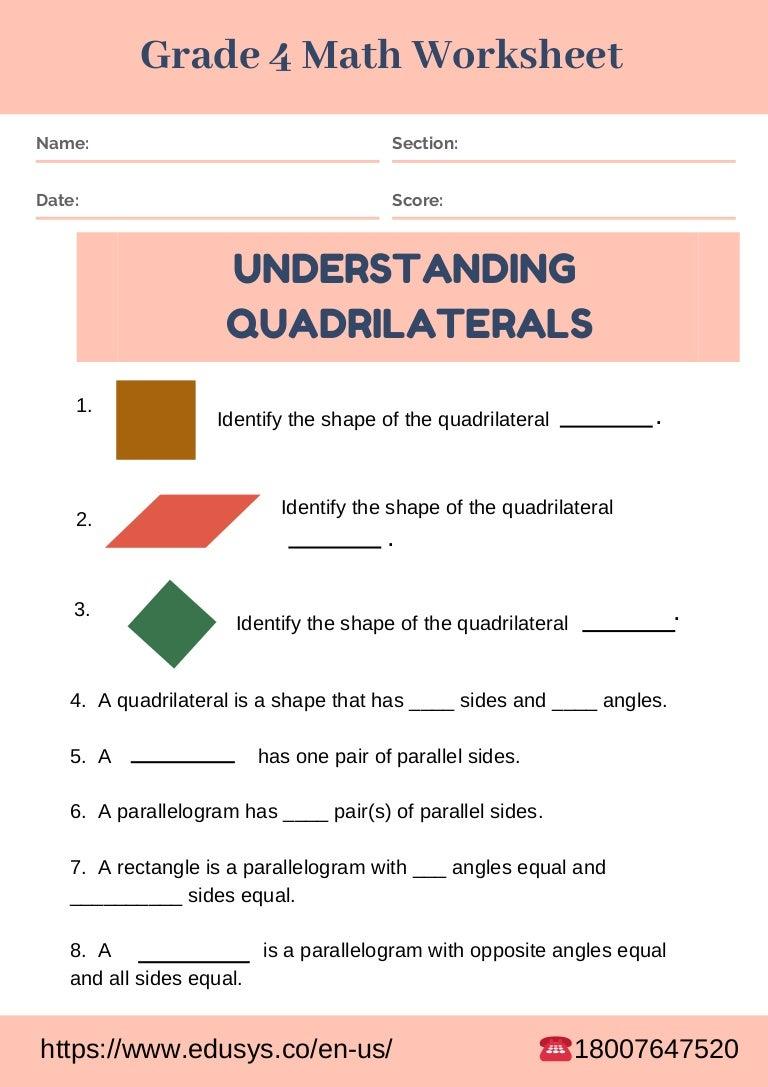 Free pdf math worksheet for grade 4 students