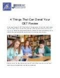 4 Things That Can Derail Your OET Review