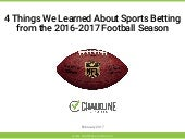 Chalkline Sports - 4 Things We Learned About Sports Betting from Last Football Season