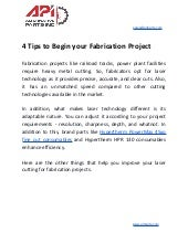 4 tips to begin your fabrication project