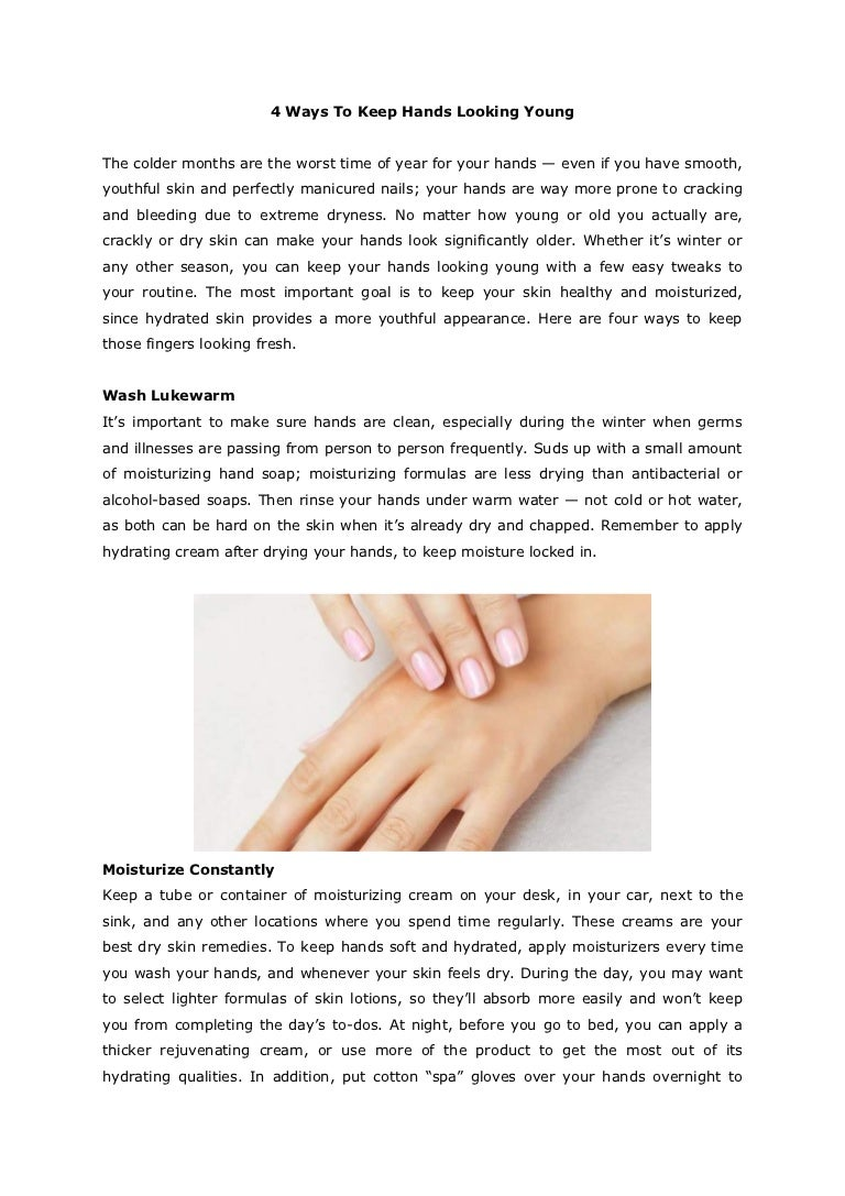 4 Ways to Keep Hands Looking Young