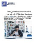 4 Ways to Prepare Yourself for Intensive OET Review Sessions