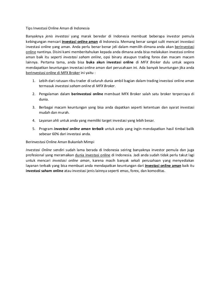 Intip 5 Cara Aman Investasi Online Reksa Dana dan Saham Halaman all - cryptonews.id