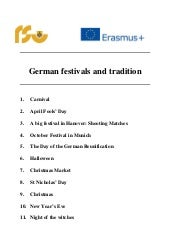 5. German festivals and traditions