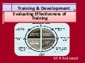 Training & Development - Evaluating Effectiveness of Training