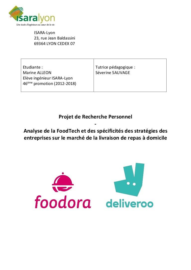Analyse de la FoodTech et des spécificités des stratégies des entrepr