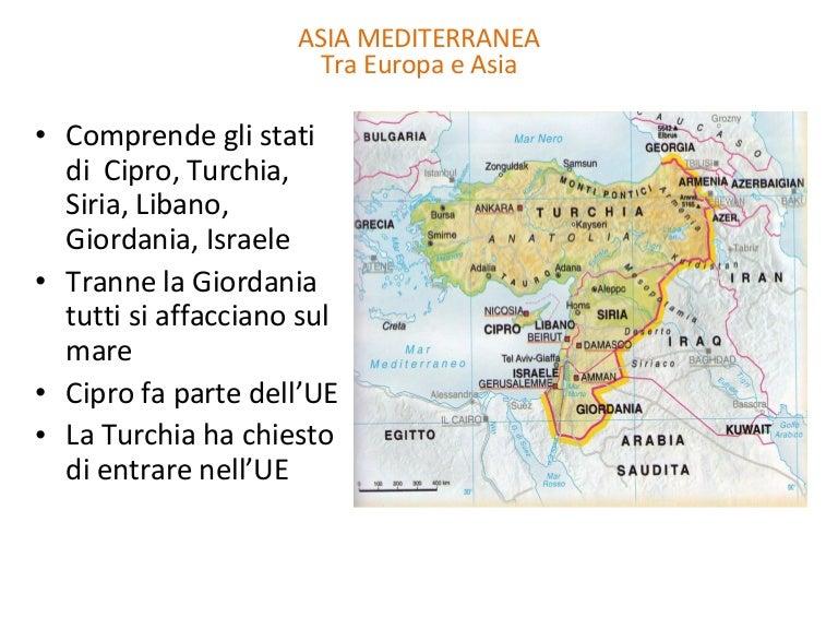 Mediterraneo Cartina.5 Asia Mediterranea