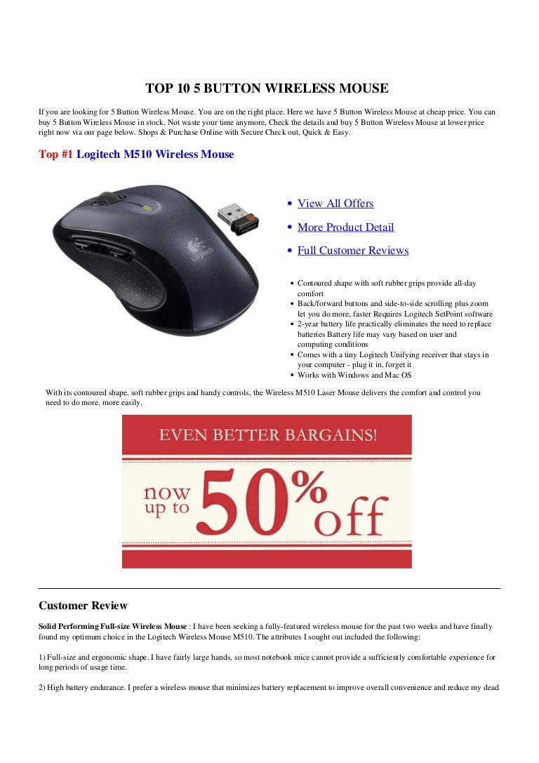 5 Button Wireless Mouse