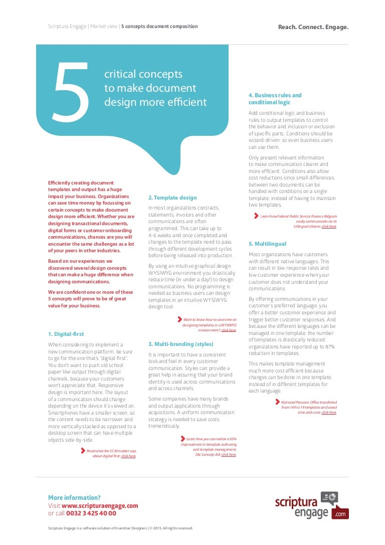 5 Concepts for better document design