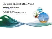 Costos con Microsoft Office Project 2007