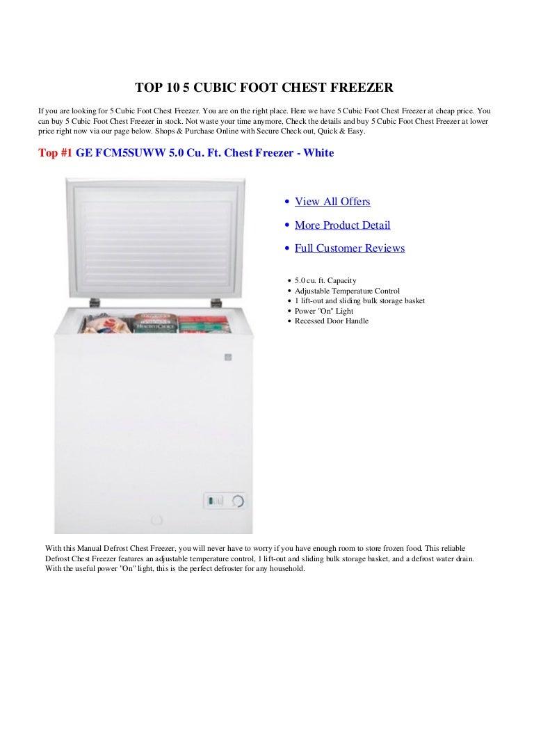 Ge Upright Freezer Manual 5 Cubic Foot Chest Freezer