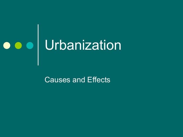 5.effects of urbanization