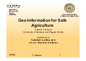 Geo-information for safe agriculture