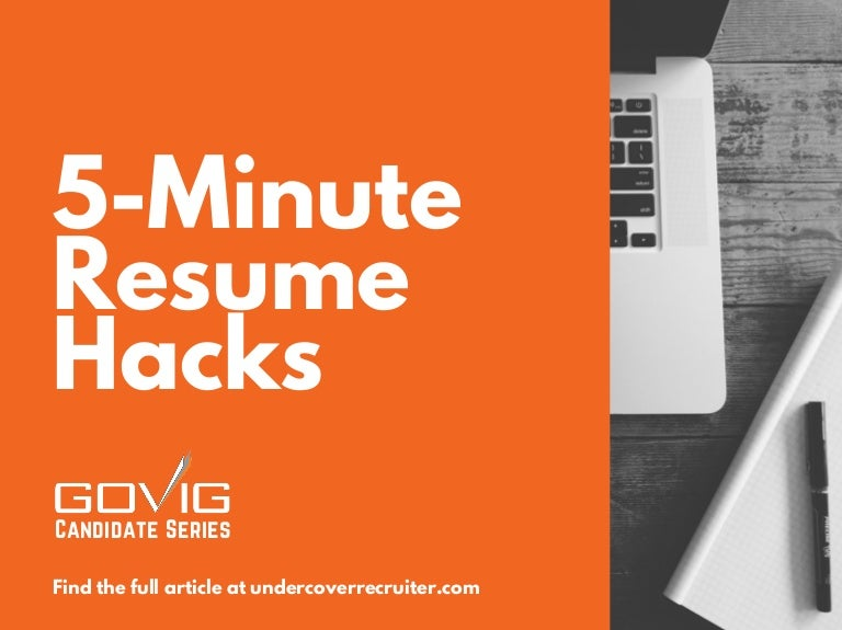 5 minutes to a better resume