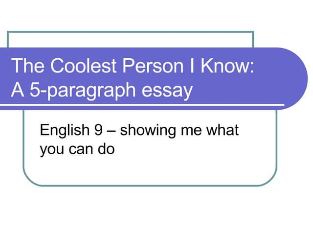 5 Paragraph Essay Construction