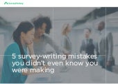 Guide: Avoid these 5 common survey-writing mistakes