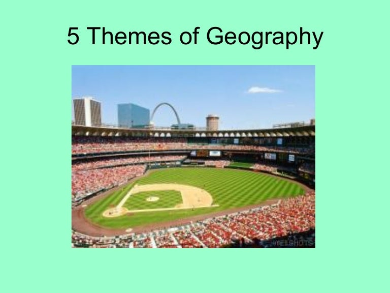 Christmas gifts for geographers use the five themes