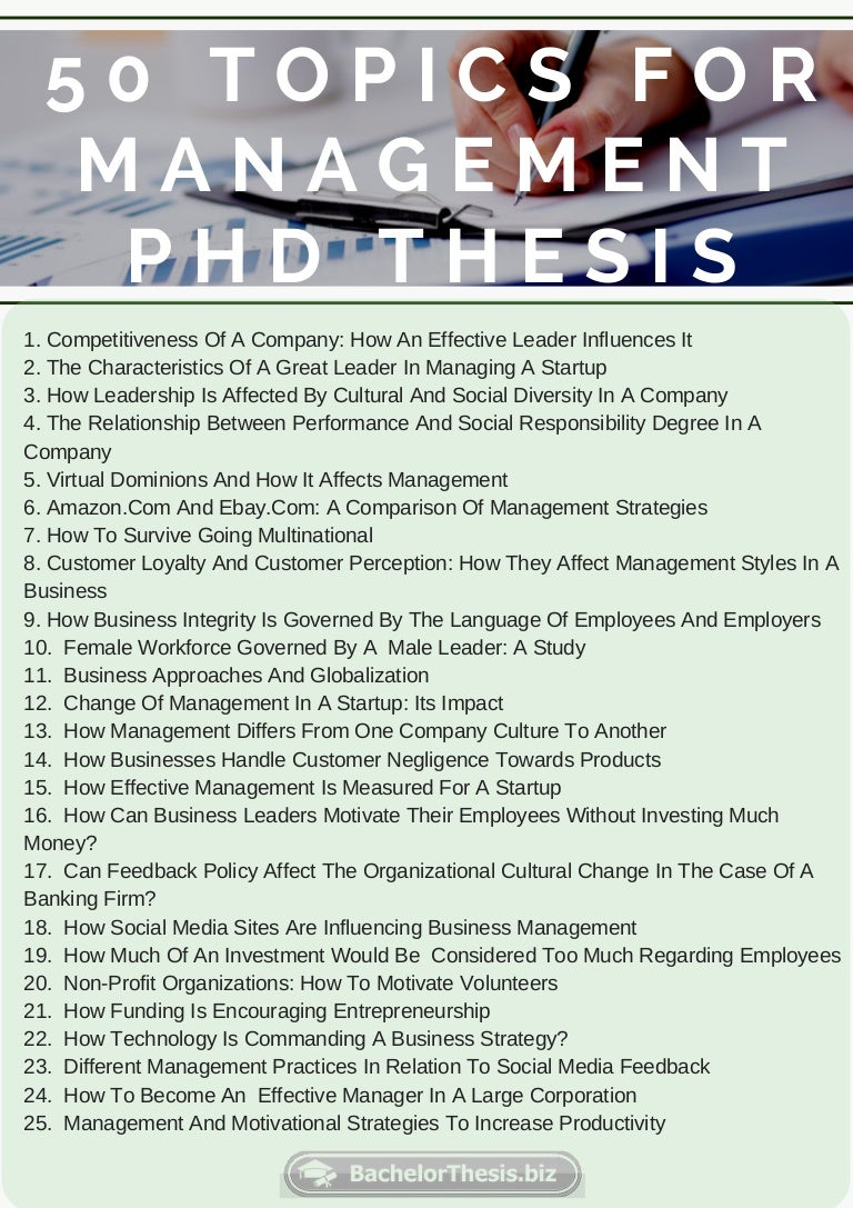 Phd dissertation change management