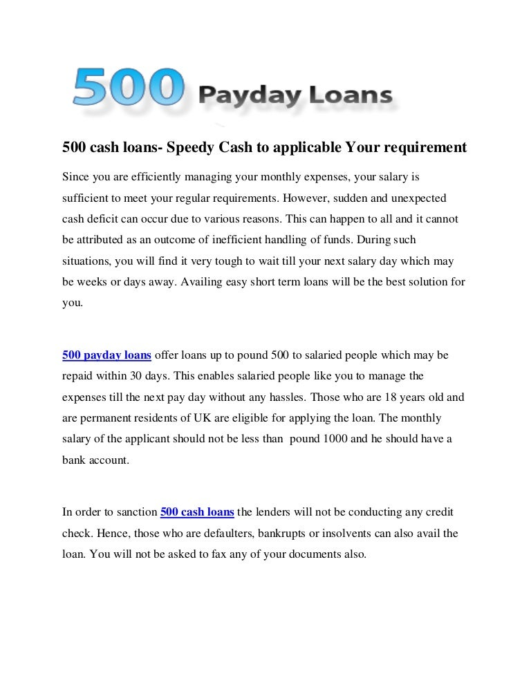30 days fast cash fiscal loans