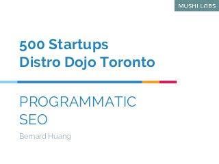 Programmatic SEO: How to Dominate SEO Like TripAdvisor, Yelp and Zillow