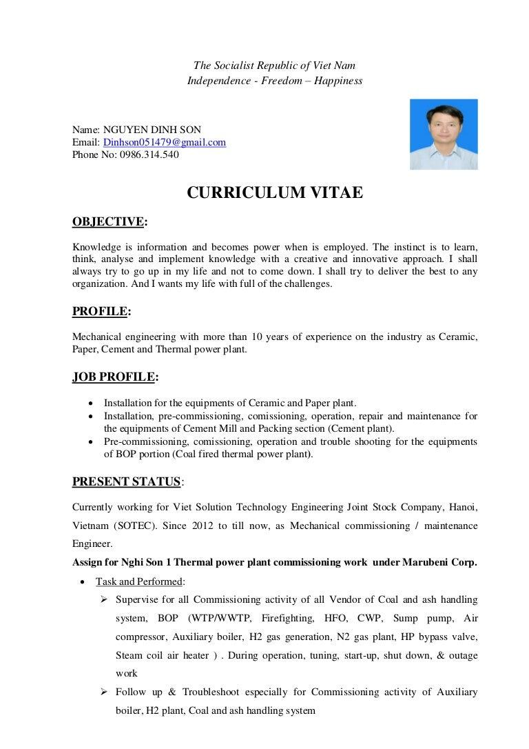 Thermal Power Plant Operator Resume. power plant equipment operator ...