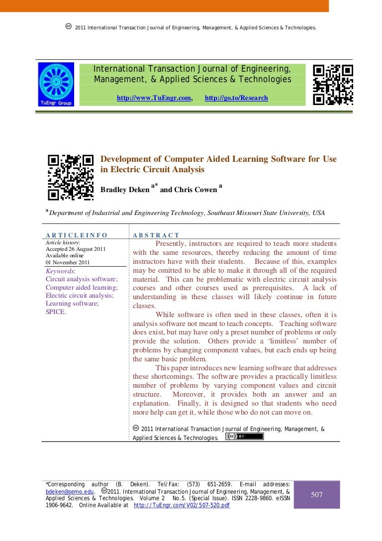 Development Of Computer Aided Learning Software For Use In Electric C Electriccircuit2jpg