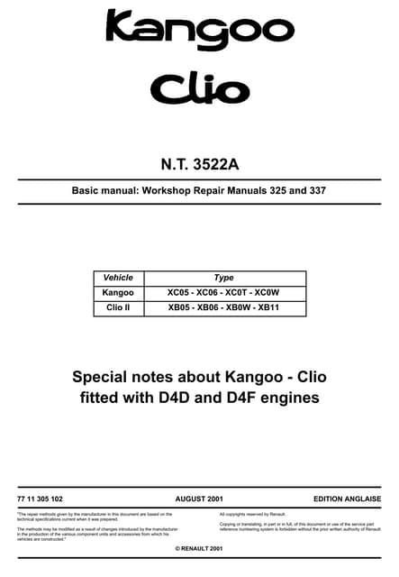 clio 16v manual de taller rh slideshare net 2004 Renault Symbol Renault Symbol 2003