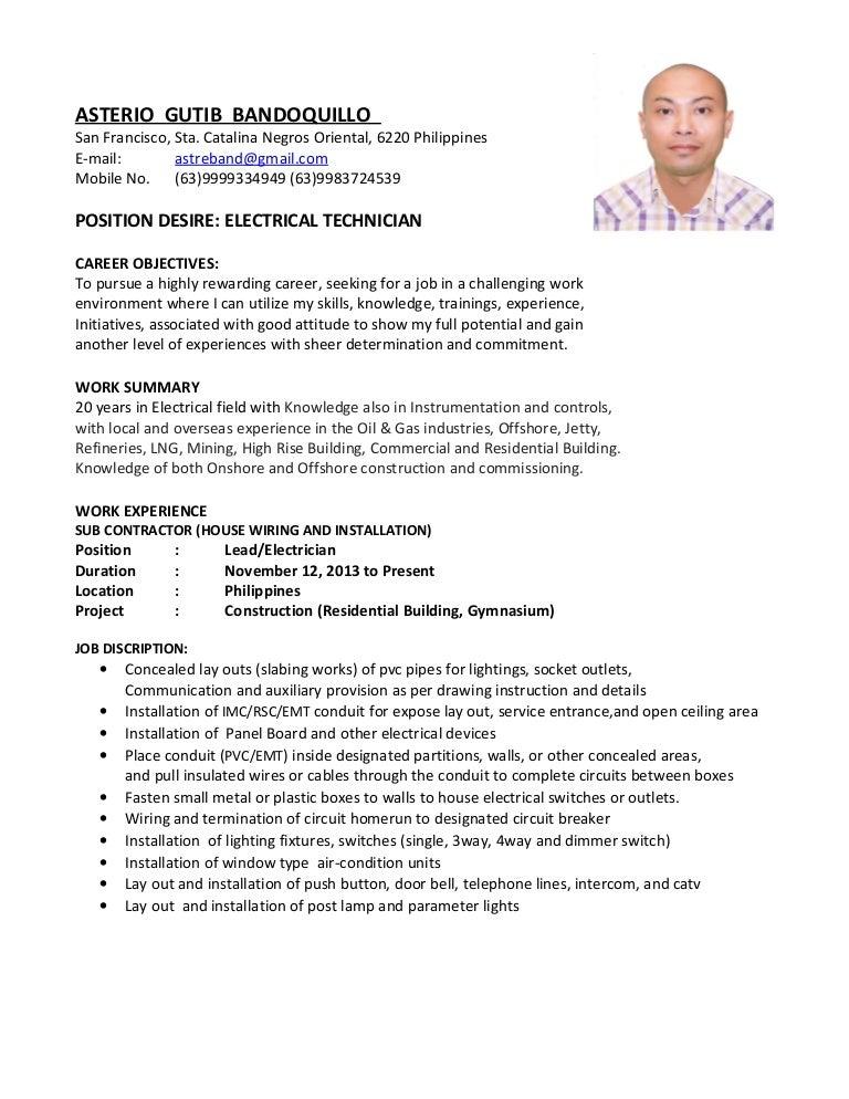 [NRIO_4796]   ELECTRICAL TECHNICIAN | House Wiring Description |  | SlideShare