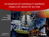 Sustainability Reporting E- book: 50 Examples of Materiality Matrices From 5 Key Industry Sectors