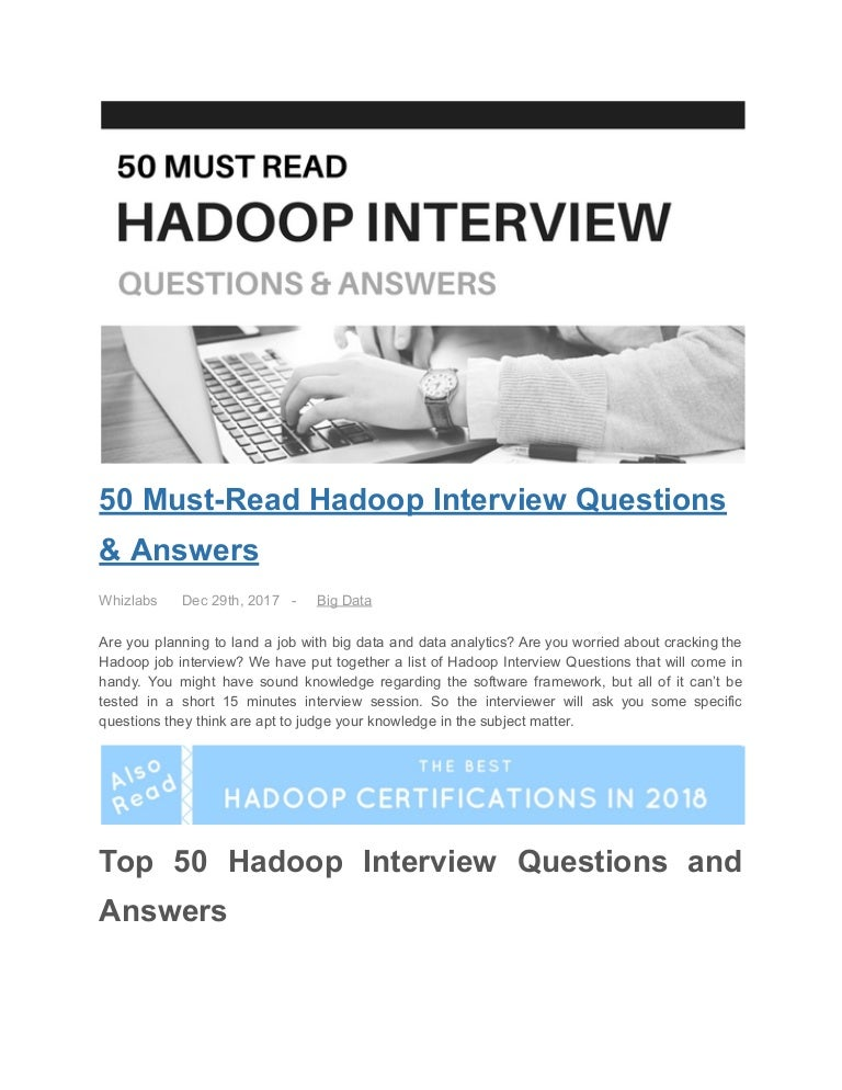 50 Must Have Rv Accessories Rv Supplies In 2019 Expert: 50 Must Read Hadoop Interview Questions & Answers