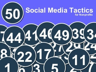 50 Social Media Tactics for Nonprofits