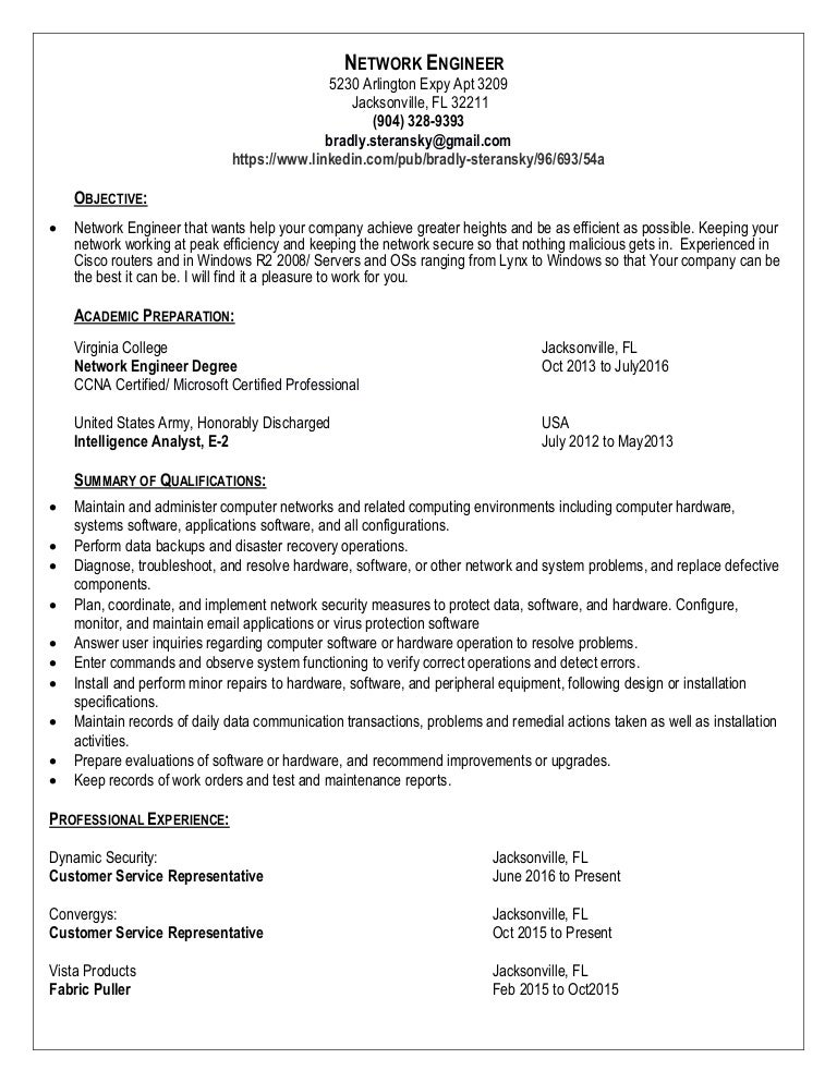 brads resume
