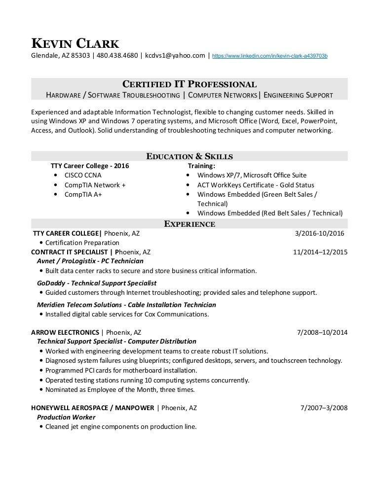 Kevin Clark - IT Professional - Resume 2016 (2)