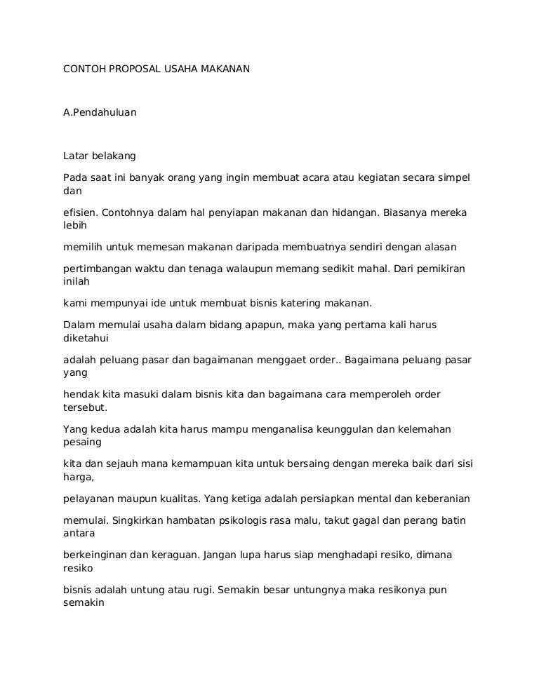 51223445 Contoh Proposal Usaha Makanan