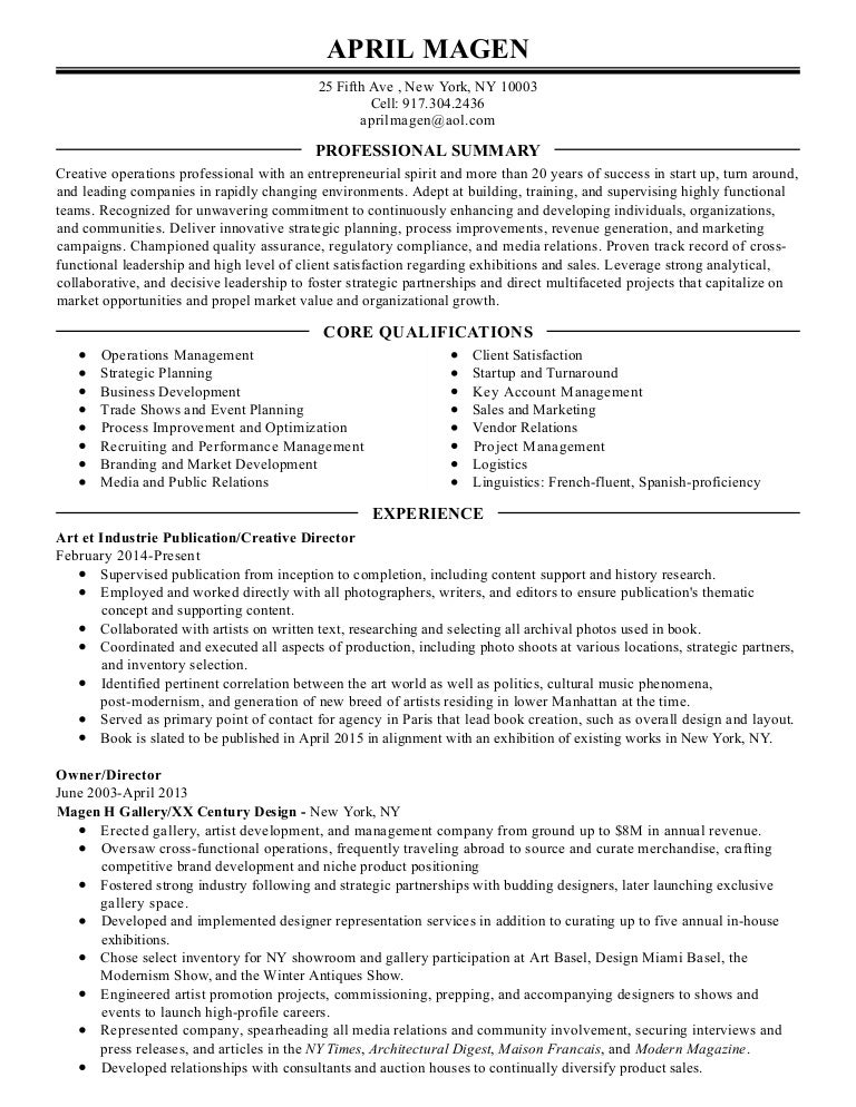 copy of professional resume for april magen 3