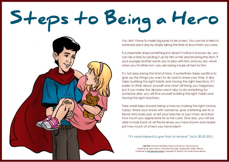 Steps to Being a Hero