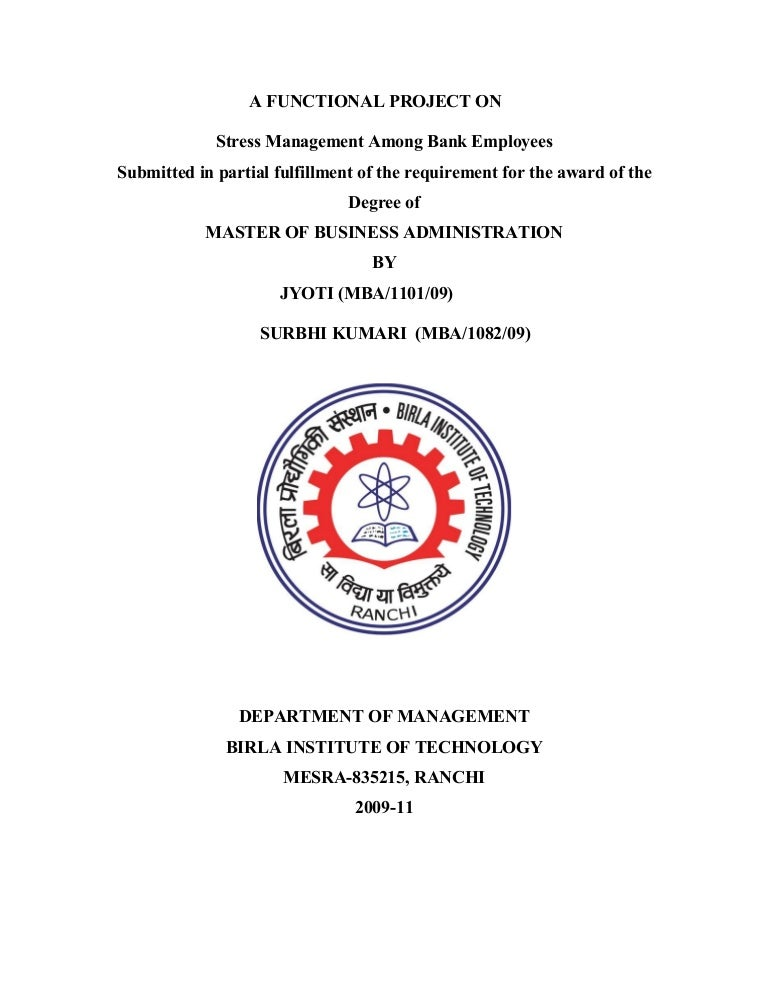 review literature on stress management among bank employees To study the various issues highlighted in this study related to employee motivation, this study reviews a large body of literature mainly in different journals once all the issues have been identified, each issue is used as a keyword to search the relevant literature.