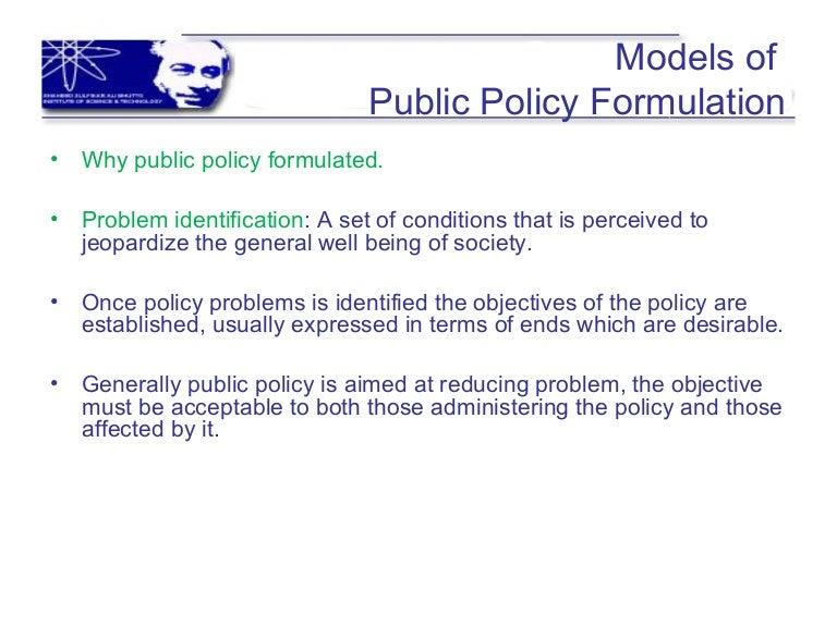 policy formulation