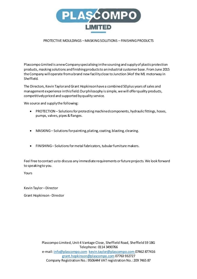 Plascompo ltd letter template altavistaventures Gallery