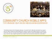 COMMUNITY CHURCH MOBILE APPS
