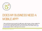 DOES MY BUSINESS NEED A MOBILE APP