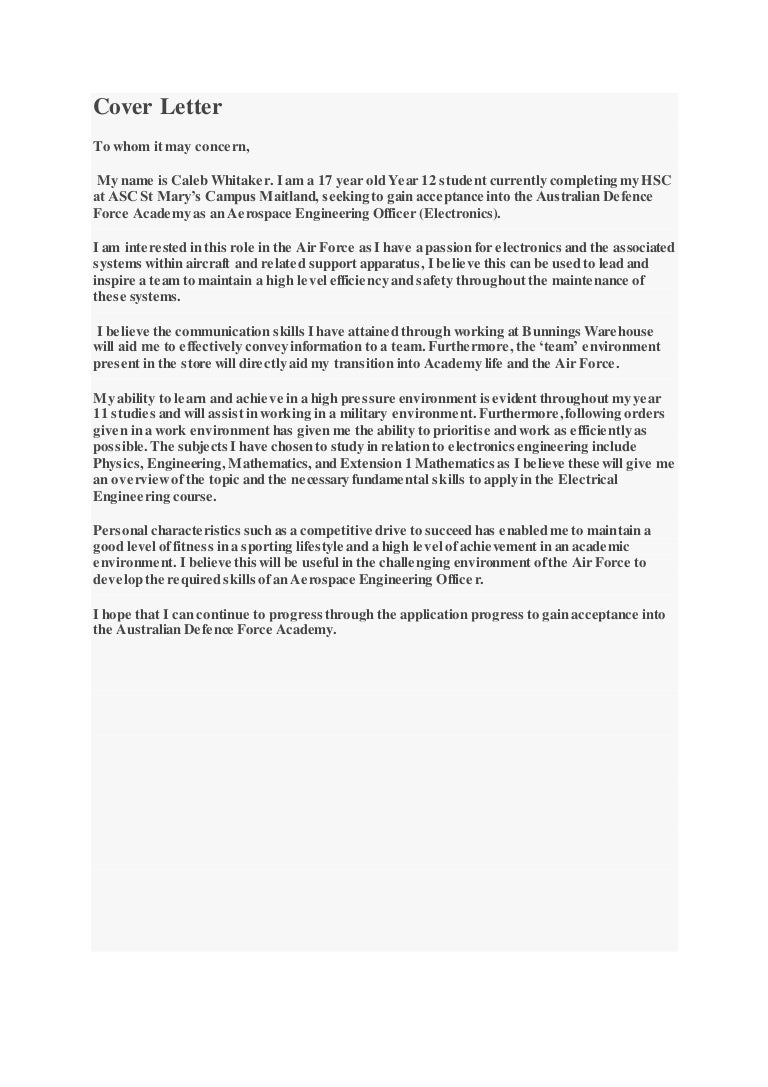 Resume and ADF cover letter