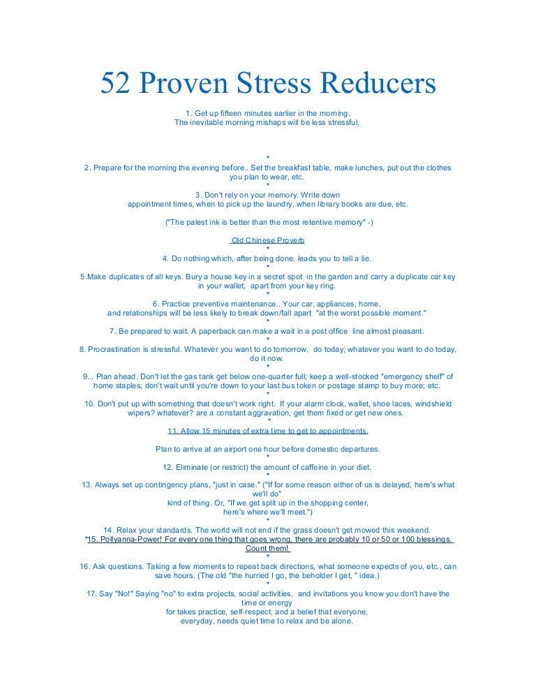stress reducers 2