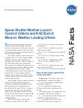 Space Shuttle Launch and Landing Weather Rules