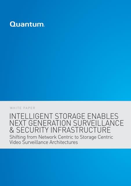 Intelligent Storage Enables Next Generation Surveillance & Security Infrastructure - WP00211_v01_A4