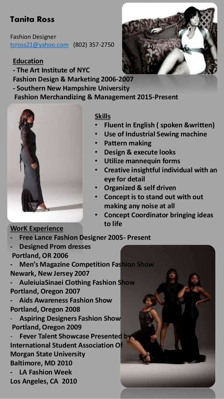 Tanita Fashion Design Resume [Autosaved]